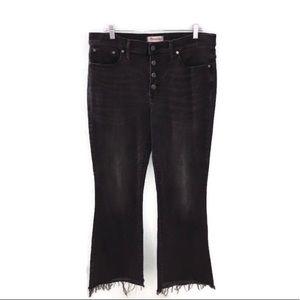 Madewell Cali Demi-Boot Dark Gray Denim Jeans